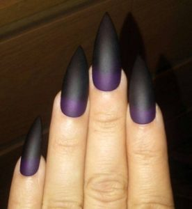 gothic purple ombre