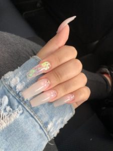 coffin nails nude color