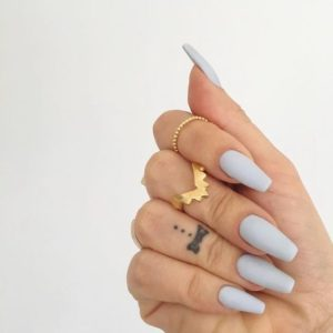 light grey acrylic nails