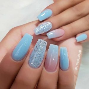 light blue coffin nails עךןאאקר