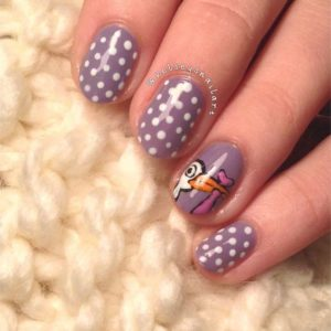 pelican nail art on accent nail