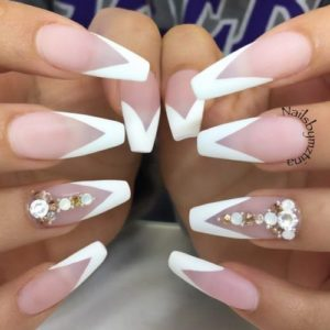 French nail tips with a point