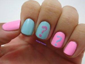 question mark on accent nails