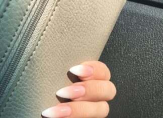 white tip nails