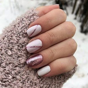 Rose gold polish and accents