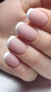 a classic french manicure nail design