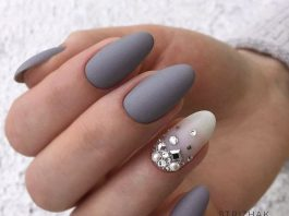 Grey Acrylic Nails Designs