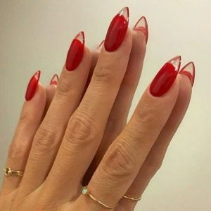 acrylic red clear tip