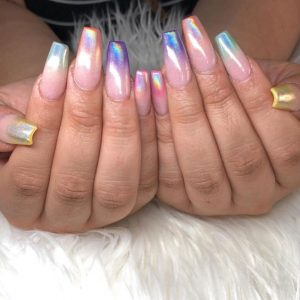 rainbown ombre holo