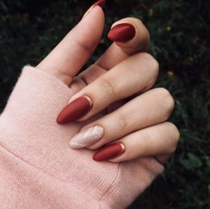 soft red marbling