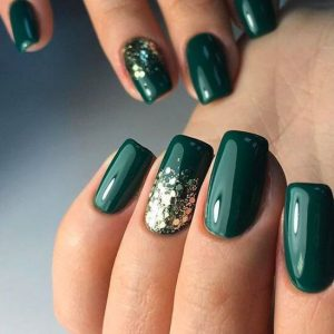 emerald with gold glitter