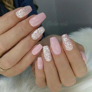 pink glitter solid