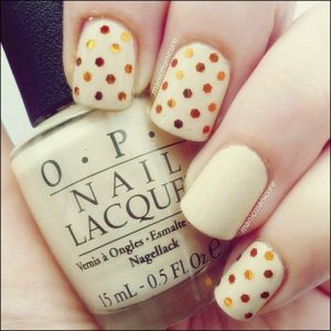 glitter dots on nude