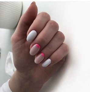 white nude hot pink