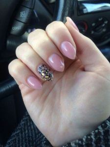 pale pink leopard stiletto