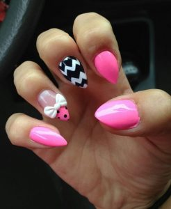 pink chevron stiletto