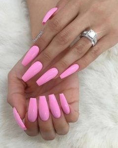 solid bold light pink