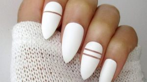 white stiletto stripes
