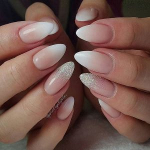 glitter ombre french design