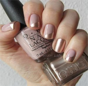 nude gold chrome