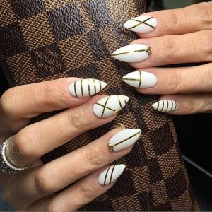 white stripe stilettos