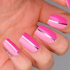 middle metallic pink shades