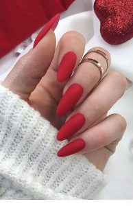 simple matte red