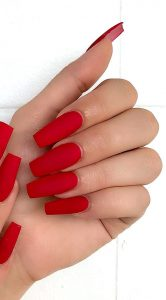 red solid matte acrylics