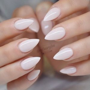 stiletto simple white