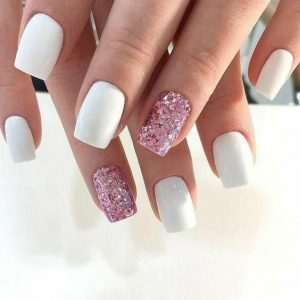 glitter pink solid white