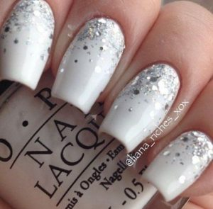 ombre large glitter white
