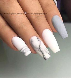 grey and white design matte