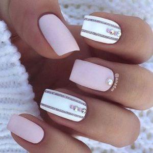 feminine matte white and pink