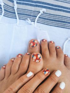 hawaiian flower toes