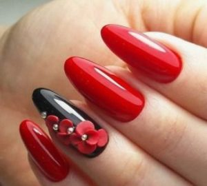 red stone nails black