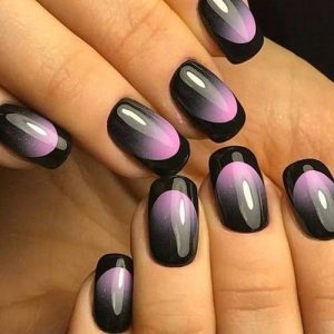 black french tip ombre