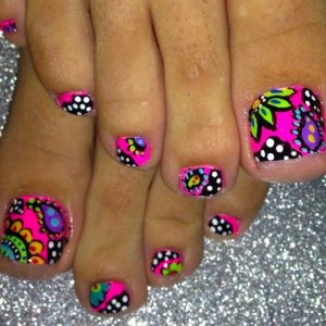 neon abstract pediccure