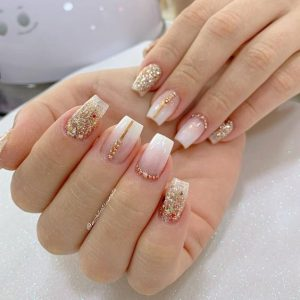 modern ombre gold stripes