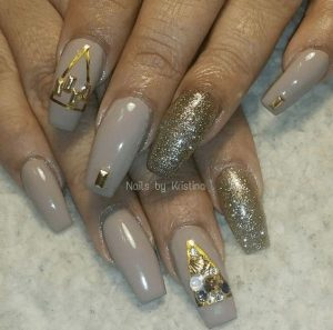taupe gold details