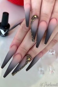 nude black ombre long