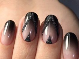 short ombre glitter shape