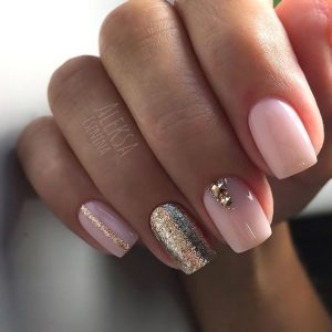 gold glam touches of pink