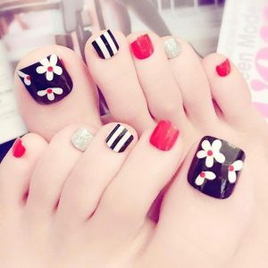 classic color flower toes