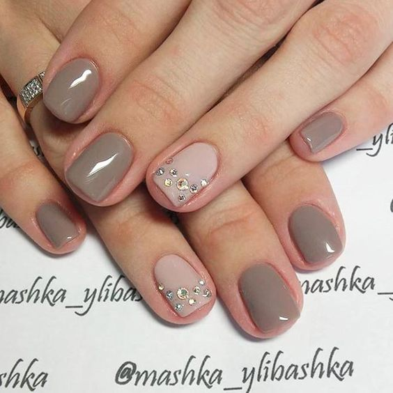 taupe shades accented with glam
