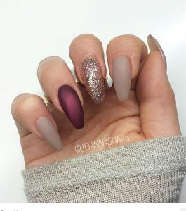 deep red glitter taupe