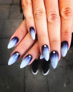 almond shaped nails ombre
