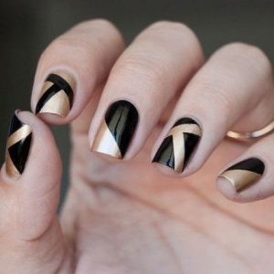 geometric gold black nye