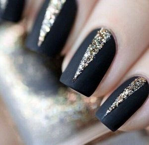 gold glitter shape nye