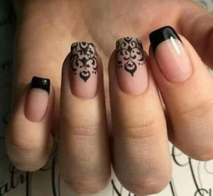 matte black design french