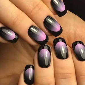pink black french tips